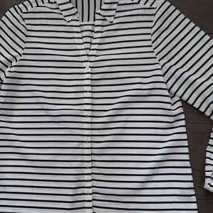 Limited Cream and Black Stripe blouse